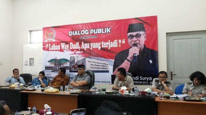 Warga Ingin Dialog DPD Soal Sengketa Lahan Way Dadi Jangan seperti Lagu Lama Kaset Baru