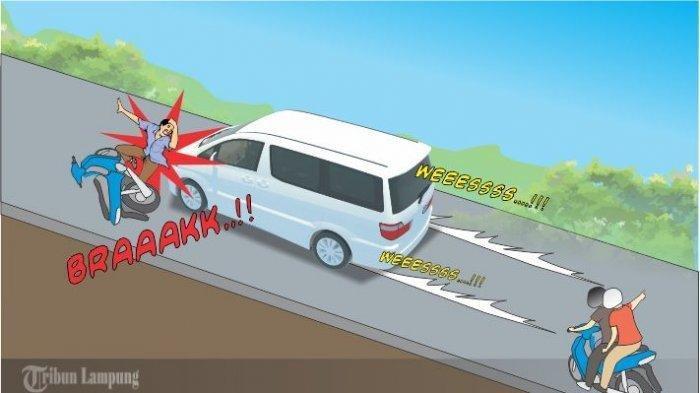 Polisi Buru Mobil terlibat Tabrak Lari di Jalinbar Pringsewu Lampung