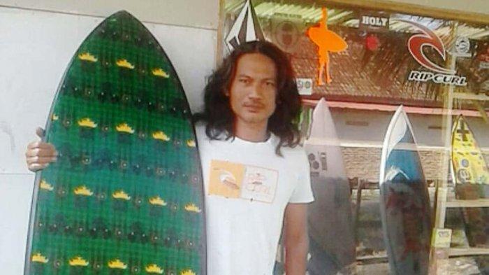 Nanung Pernah Buatkan Gabriel Medina Fin Papan Surfin Motif Batik Lampung