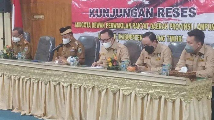 Reses DPRD Lampung, PUPR Lampung Timur Usulkan Pembangunan Tujuh Ruas Jalan