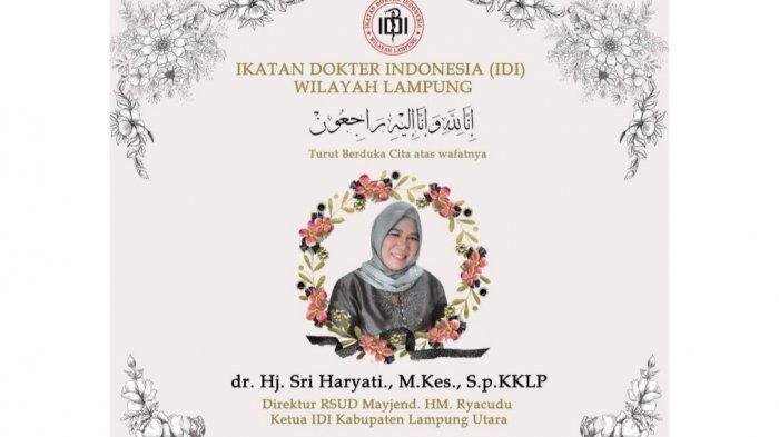 Direktur RSUD Ryacudu Wafat, Ketua IDI Lampung Sampaikan Duka Cita