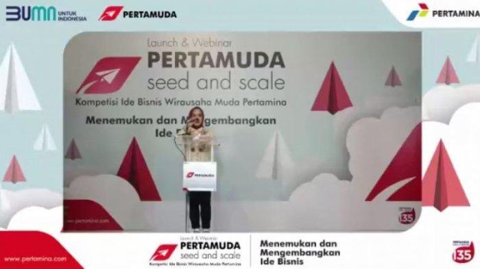 Dirut PT Pertamina Persero Nicke Widyawati Launching Program Pertamuda