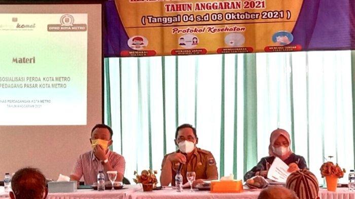 Disdag Metro Lampung Sosialisasi Perda ke Pedagang Pasar Cendrawasih
