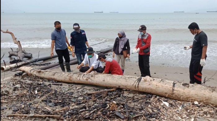 DLH Lampung Cek Material Limbah di Pantai Kota Agung
