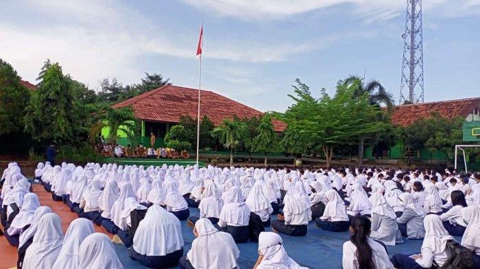 Sebelum PTM, Ratusan Siswa di Lampung Utara Doa Bersama