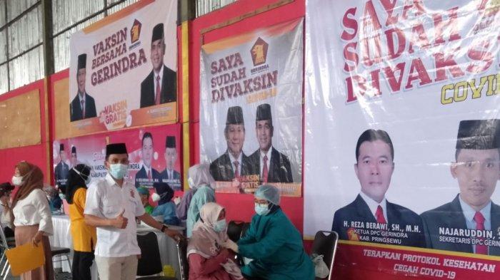 DPC Gerindra Pringsewu Lampung Gelar Vaksinasi Covid-19 Gratis Sebanyak 500 Dosis