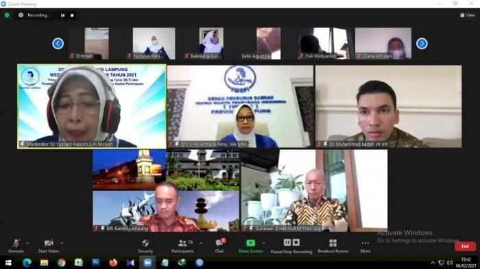 DPD IWAPI Lampung Gelar Webinar Jelang HUT ke-46 IWAPI