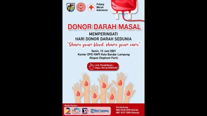 Memperingati Hari Donor Darah Sedunia, KNPI Bandar Lampung Akan Gelar Donor