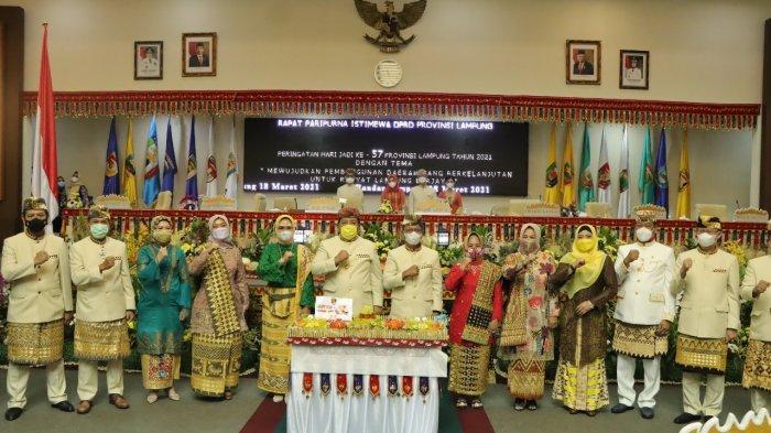 DPRD Provinsi Lampung Gelar Rapat Paripurna Peringatan Hari Jadi ke 57 Provinsi Lampung Tahun 2021