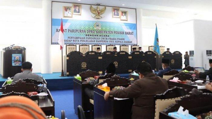DPRD Pesisir Barat Gelar Rapat Paripurna Raperda Usul Kepala Daerah, Ini Pandangan Fraksi