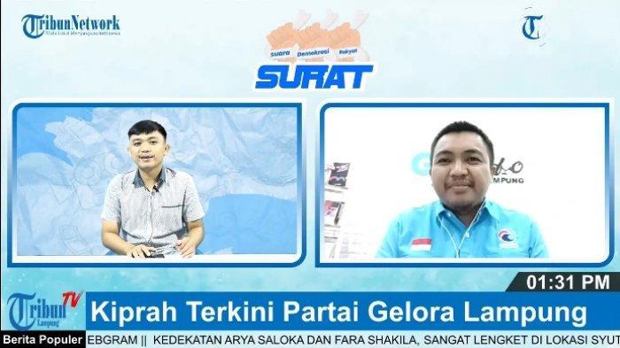 DPW Partai Gelora Lampung Siapkan 3 Bacaleg di Setiap Daerah untuk Pemilu 2024