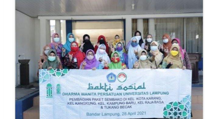 Darma Wanita Persatuan Unila Adakan Bakti Sosial di Sejumlah Kelurahan