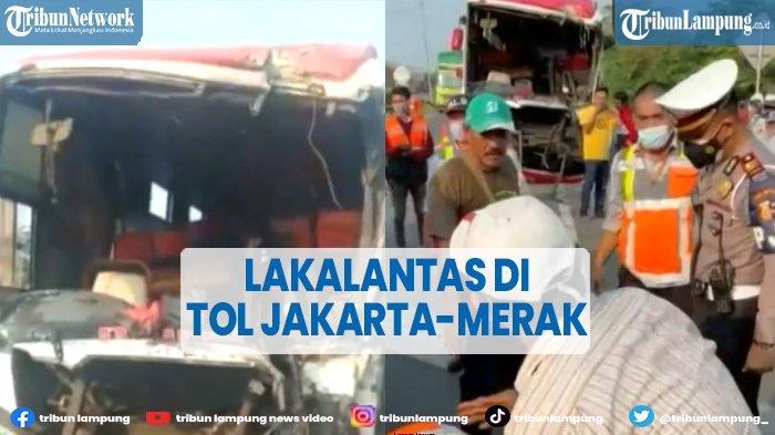 2 Bus Terlibat Kecelakaan di Tol Tangerang-Merak, 6 Orang Dilarikan ke Rumah Sakit