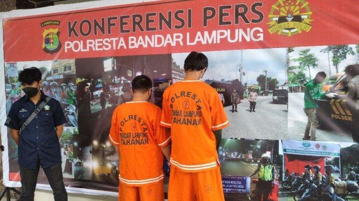 BREAKING NEWS Polresta Bandar Lampung Bekuk 2 Orang Diduga Bandar Sabu
