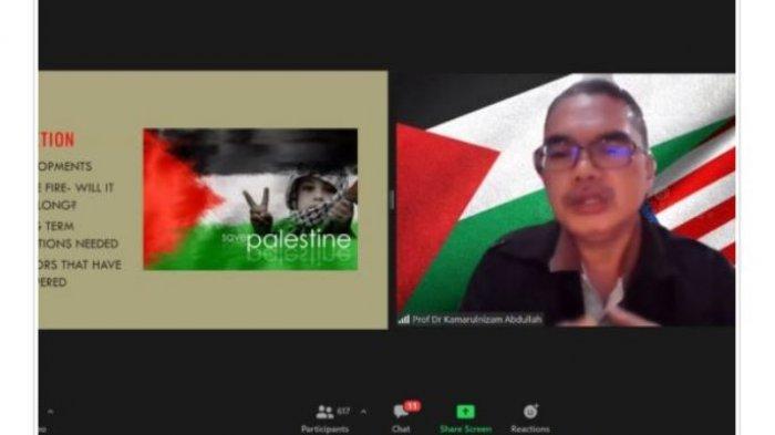 Dukung Kemerdekaan Palestina, Unila dan FRPKB Gelar Webinar Internasional