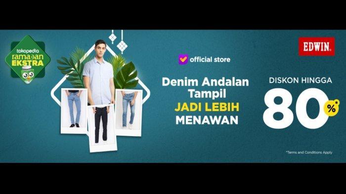 Promo Baju Lebaran 2019 di Edwin Jeans, Diskon hingga 80 Persen Koleksi Jeans hingga Chino