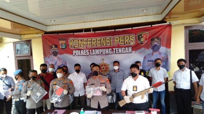 Sebanyak 6 Senpi Turut Diamankan oleh Polres Lampung Tengah