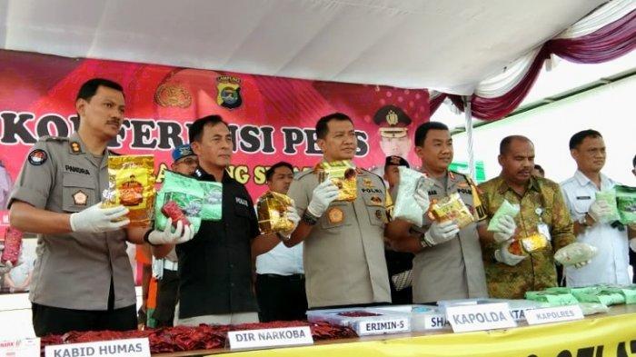Polres Lampung Selatan Berhasil Menggagalkan Peredaran Shabu Senilai 26 Milyar