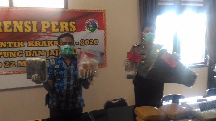 Polda Lampung Sita Narkotika Senilai Rp 2,4 Miliar