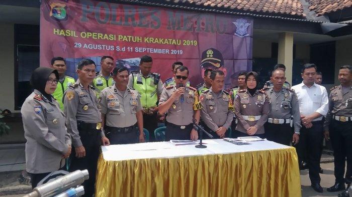Jumlah Tilang Operasi Patuh Krakatau 2019 di Polres Metro Naik 13 Persen