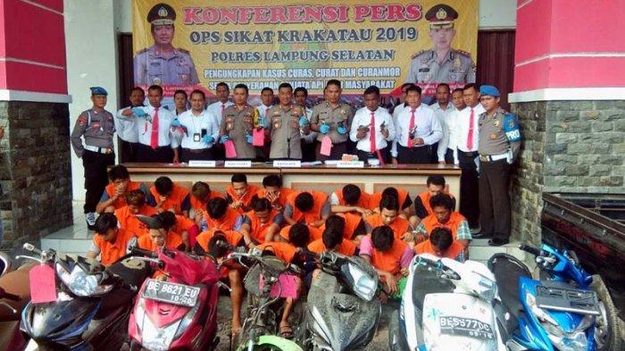 28 Kasus Kejahatan Berhasil Diungkap Polres Lamsel Selama Operasi Sikat Krakatau 2019