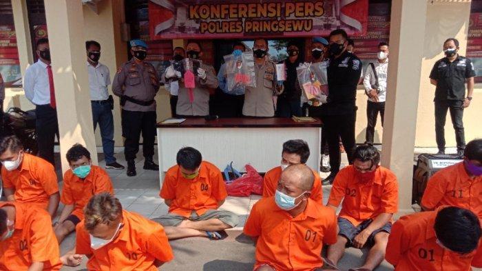 BREAKING NEWS Polres Pringsewu Jaring 14 Buron Pencurian, Mayoritas dari Luar Kabupaten