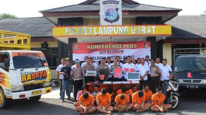 Sebulan Polres Lampung Barat Berhasil Ungkap 5 Kasus Penipuan dan Pencurian