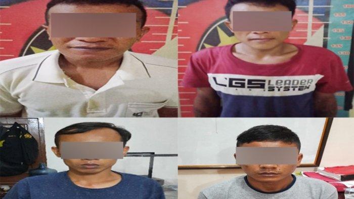 Empat Pelaku Pencurian Konter HP Asal Lamsel Diamankan Polisi Polres Tuba