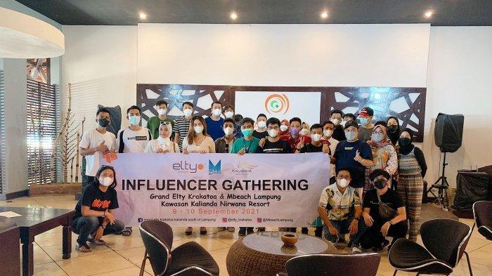 Resort Terbaik di Lampung Kalianda Nirwana Resort Undang Influencer dari Berbagai Daerah