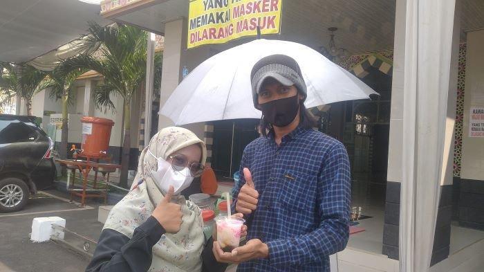 Kuliner Lampung, Segarnya Es Bubur Sumsum Kang Oi di Polresta Bandar Lampung