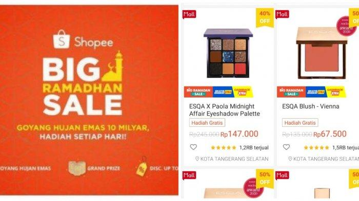 Ilustrasi. Simak, promo Shopee tahun 2021, diskon ESQA Cosmetics sampai 50 persen.