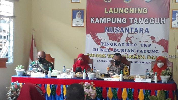 Kapten Inf Bunyamin Hadirid Launching Kampung Tangguh Nusantara Kelurahan Durian Payung