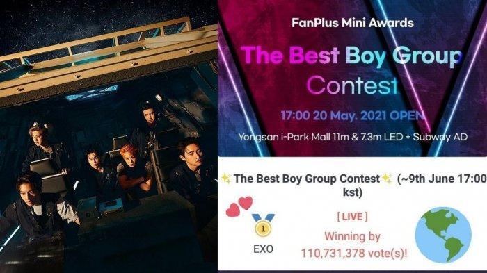 Kalahkan BTS, EXO Menang FanpPlus Mini Award, Raih 755 Juta Vote