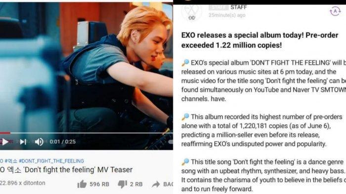 Baru rilis teaser MV terbaru, EXO raih gelar million seller.