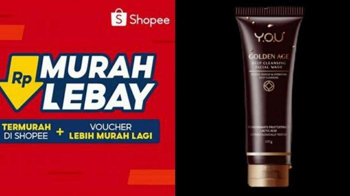 Harga YOU Golden Age Deep Cleansing Facial Wash, Simak Promo Shopee 2021