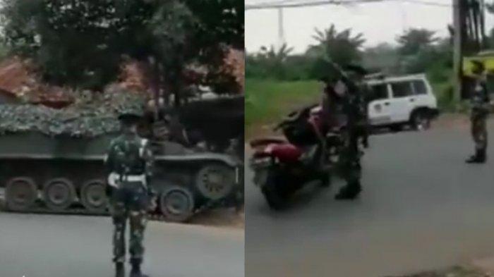 Fakta di Balik Video Viral TNI Pakai Tank Tempur Cegat Pemudik Lebaran 2021