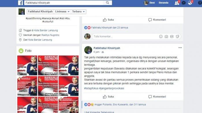 Tangani Dugaan Politik Uang di Pilgub Lampung, Ketua Bawaslu Diintimidasi