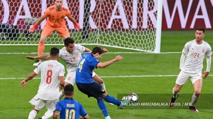 Jadwal Euro 2020, Federico Chiesa Pemain Terbaik Laga Italia Melawan Spanyol