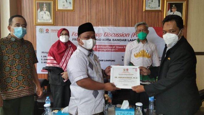 Fraksi PKS DPRD Bandar Lampung Gelar FGD Tentang Pendidikan Berkualitas di Masa Pandemi