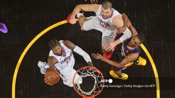 Ilustrasi. Final Playoff NBA 2021 Wilayah Barat, Suns vs Clippers, Paul George Kami Lebih Pede