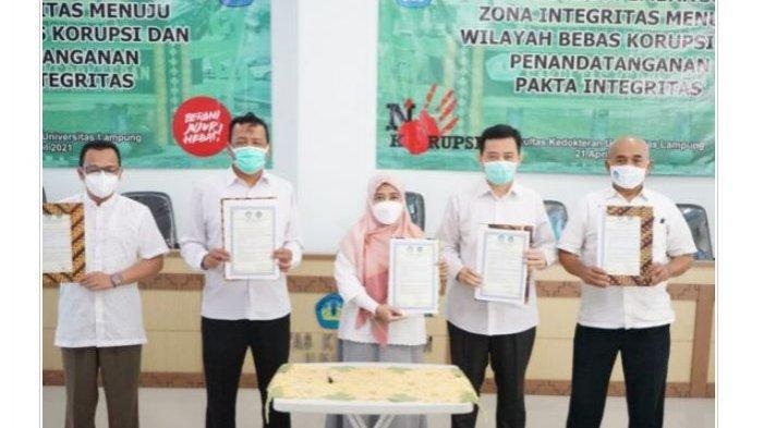 FK Unila Deklarasi Pencanangan Pembangunan ZI Menuju WBK