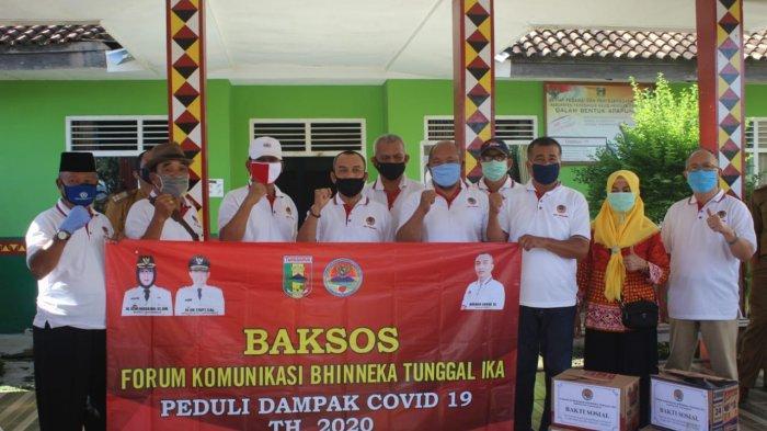 FKBTI Tanggamus Bagikan 100 Paket Sembako dan 2.500 Masker Kain ke Warga Terdampak