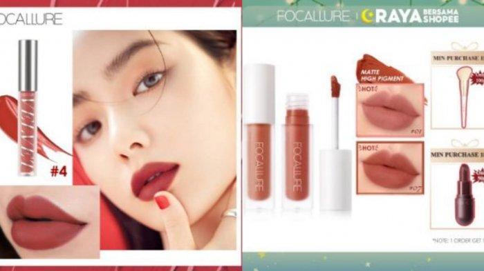 Promo Shopee 2021, Diskon 5 Produk Lips Focallure Hingga 76 Persen