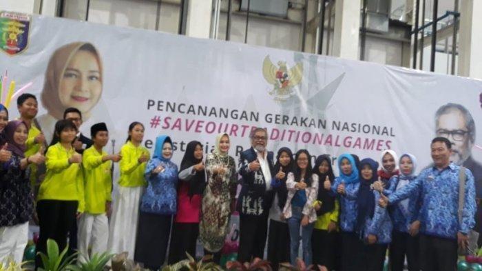 Melalui Kids Expo, Forum Anak Kota Bandar Lampung Kenalkan Game Tradisional