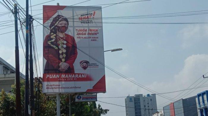 Selain Airlangga Hartarto, Foto Puan Maharani Juga Bertebaran di Bandar Lampung