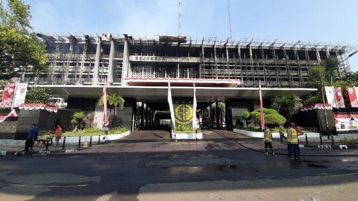 Gedung utama Kejaksaan Agung, Kebayoran Baru, Jakarta Selatan, Minggu (23/8/2020).