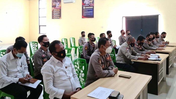 Pelaksanaan Ops Bina Waspada krakatau 2021 berlangsung di Aula Tribrata Endra Dharma Laksana Polres Mesuji.