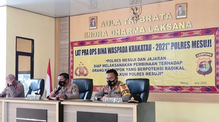 Gelar Operasi Bina Waspada Krakatau 2021, Polres Mesuji Lampung Libatkan 35 Personil
