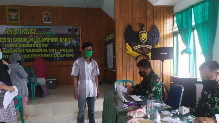 Siapkan 1.000 Dosis, Kodim 0422/LB Lampung Barat Gencarkan Vaksinasi Covid-19