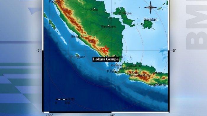 Setelah Natar, Lampung Utara juga Diguncang Gempa Magnitudo 4,1